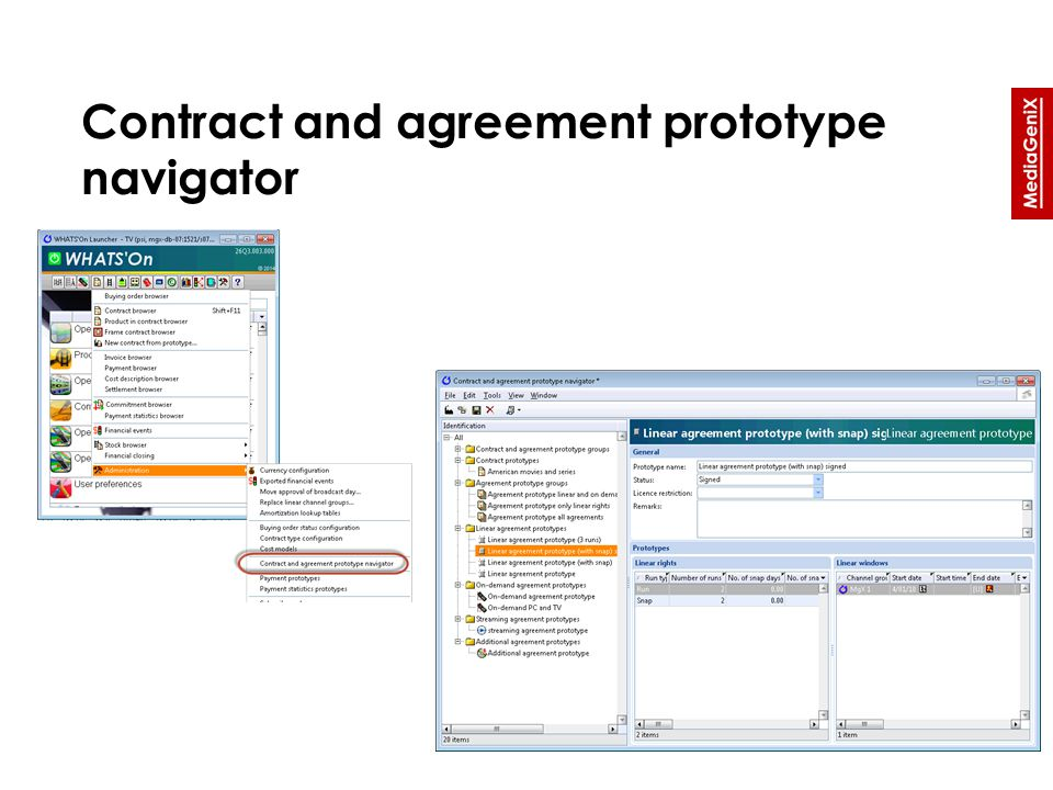 Contract and agreement prototype navigator
