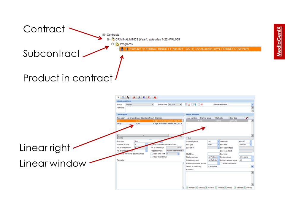 Contract status - configuration » Contract type configuration (under contract administration)  Contract phase limits statuses and actions that are available to the user  One status per phase can be set as default