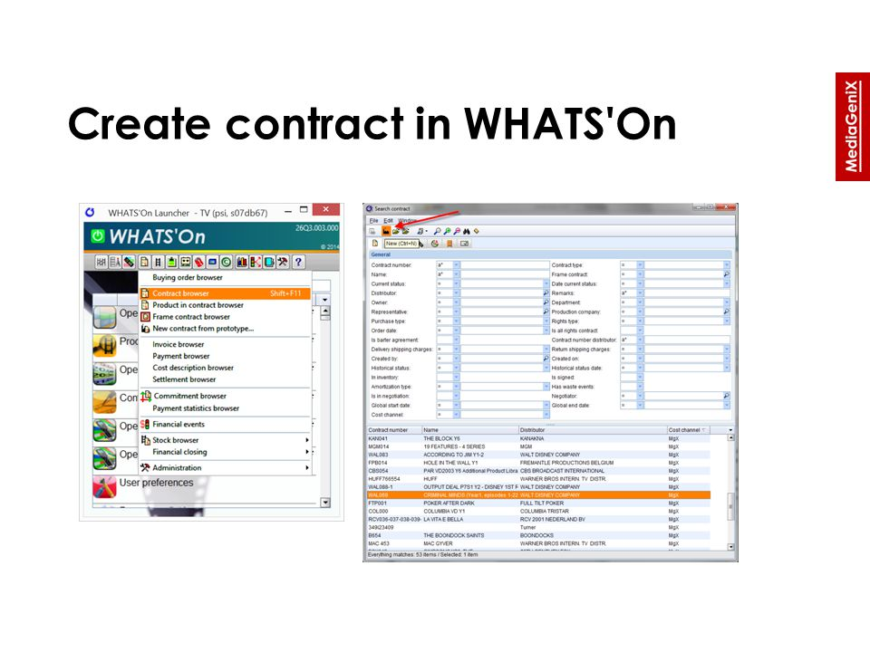 Create contract in WHATS On
