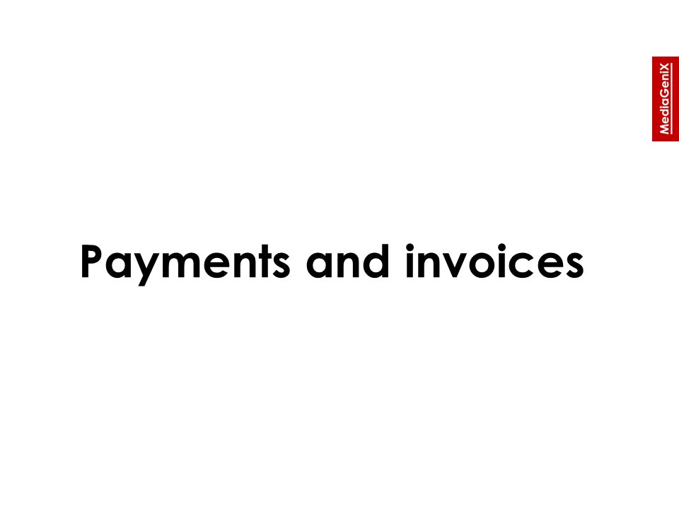 Payments and invoices