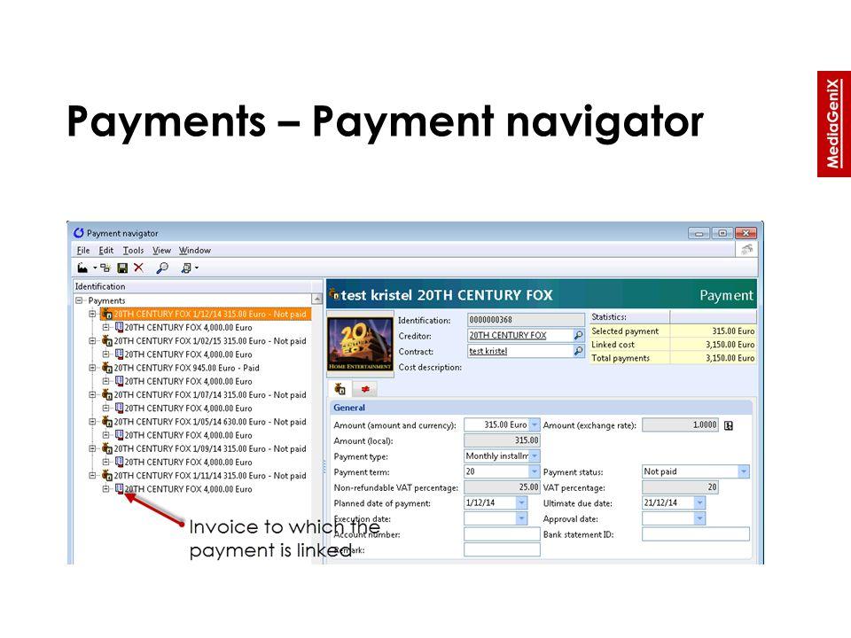 Payments – Payment navigator