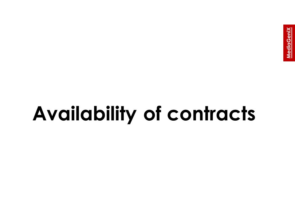 Availability of contracts