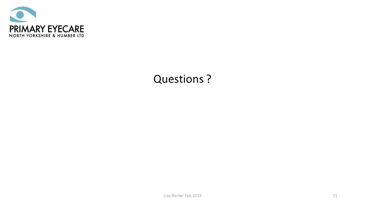 Lisa Barker Feb 201511 Questions