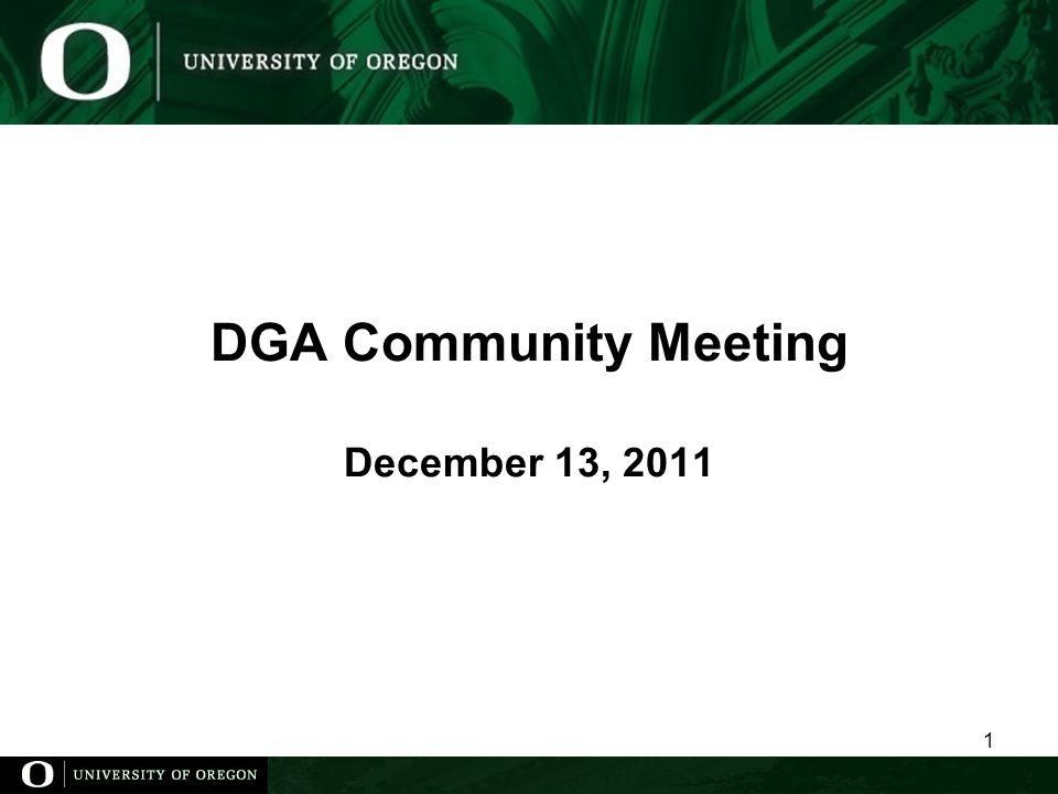 DGA Community Meeting December 13,