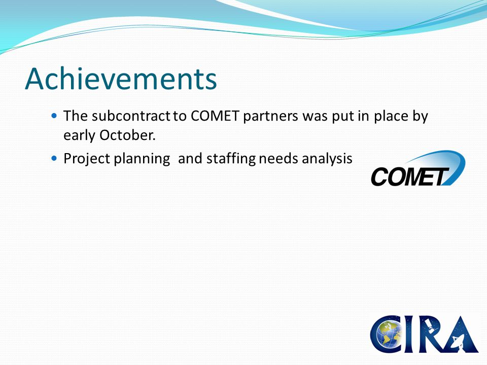 Overall Project Management: Dr.Bernie Connell In partnership with acting Chief of RAMMB: Dr.