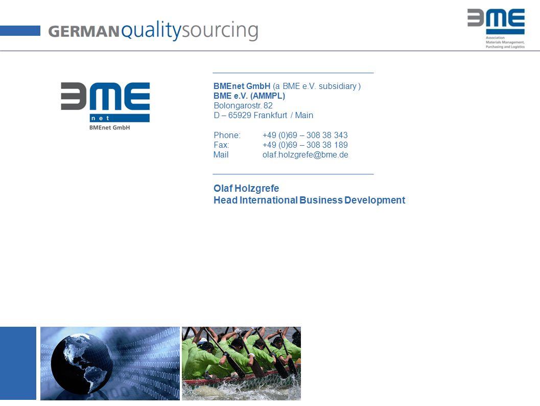 © BME / AMMPL 2014 © Olaf Holzgrefe BMEnet GmbH (a BME e.V.