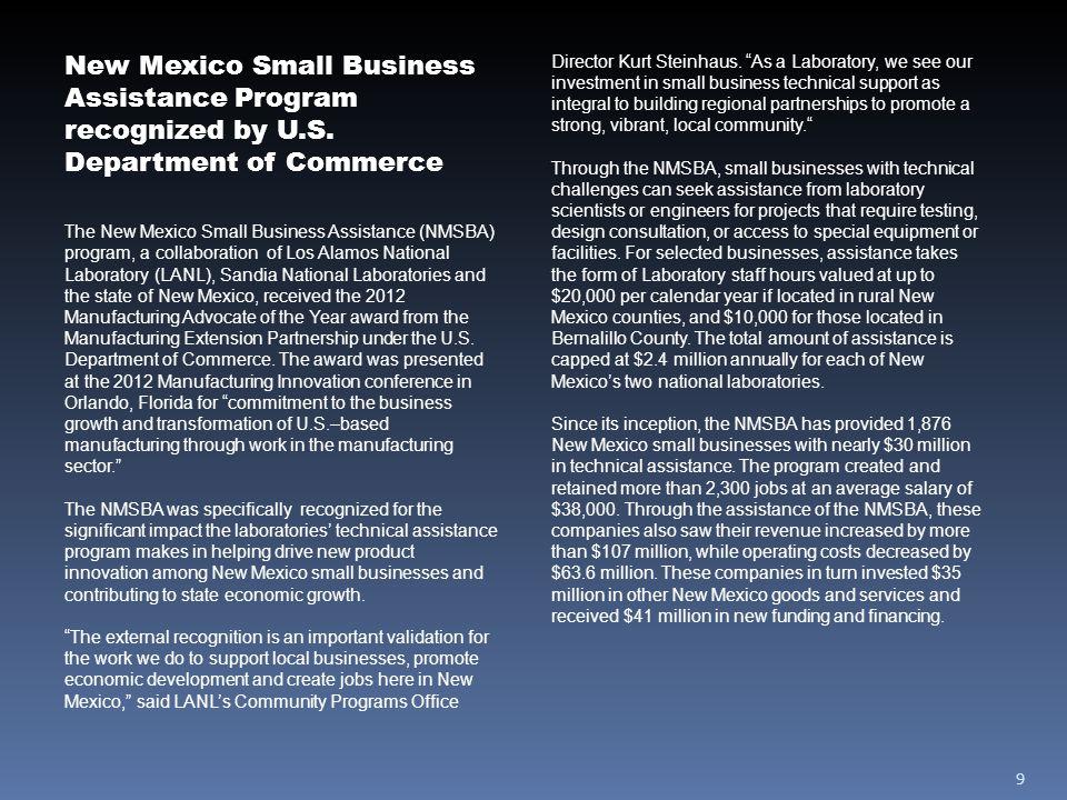 10 Small businesses serving LANL receive DOE awards Eberline Services, HukariAscendent Inc.