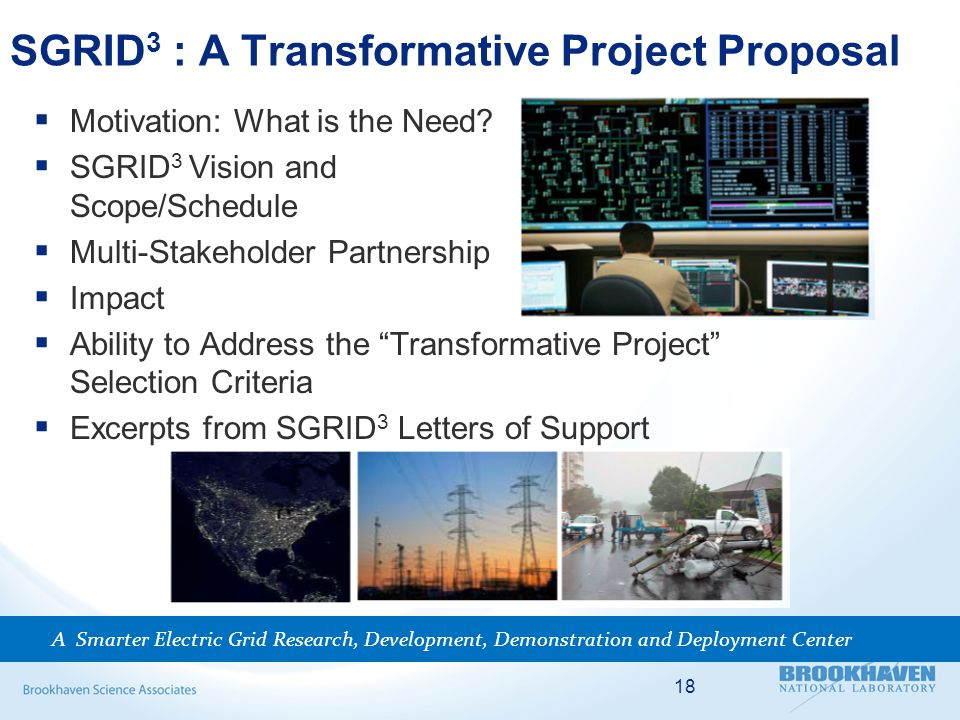 SGRID 3 : A Transformative Project Proposal  Motivation: What is the Need.