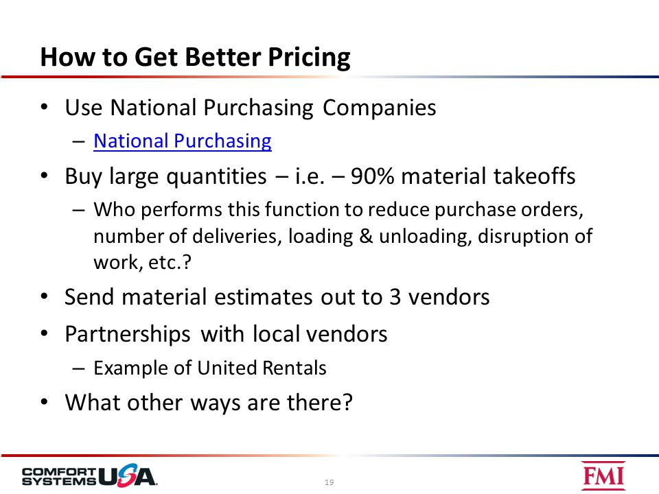 How to Get Better Pricing Use National Purchasing Companies – National Purchasing National Purchasing Buy large quantities – i.e.