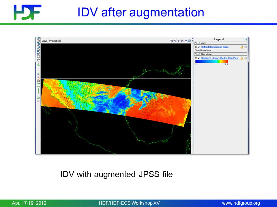 www.hdfgroup.org IDV after augmentation IDV with augmented JPSS file Apr.