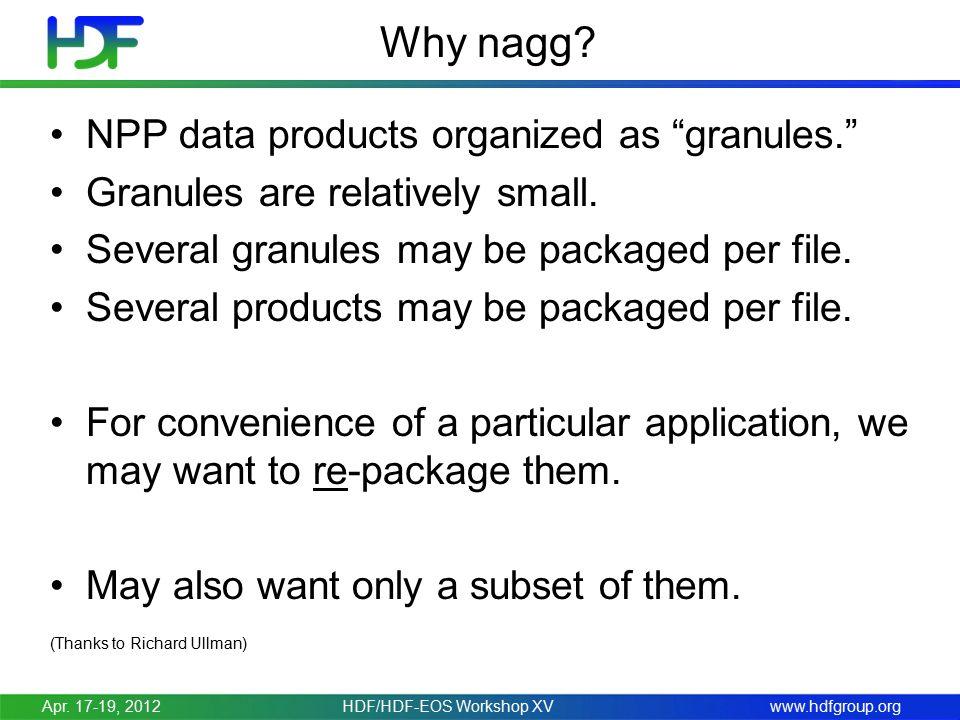 www.hdfgroup.org Why nagg.