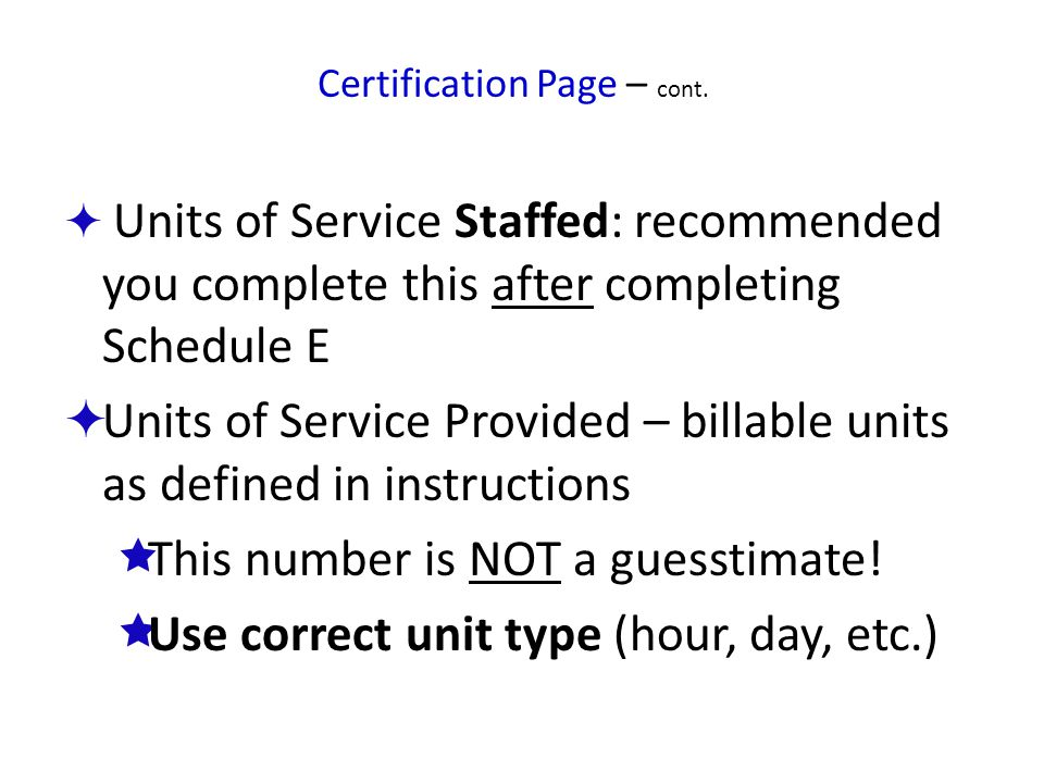 Certification Page – cont.