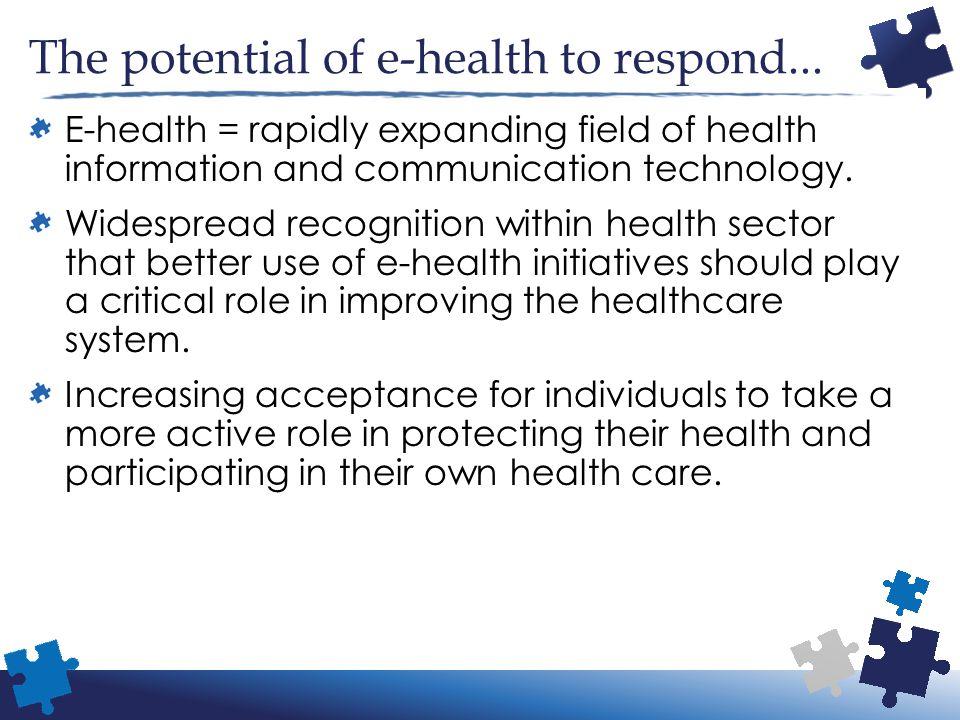 The potential of e-health to respond...