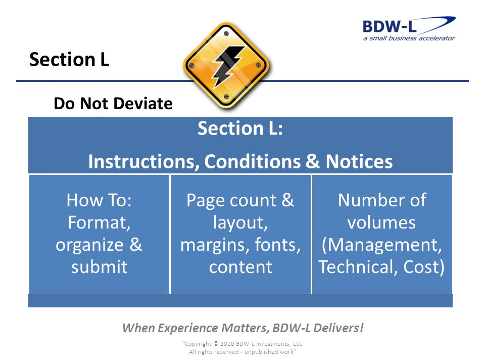 When Experience Matters, BDW-L Delivers.