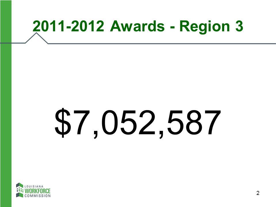 2 2011-2012 Awards - Region 3 $7,052,587