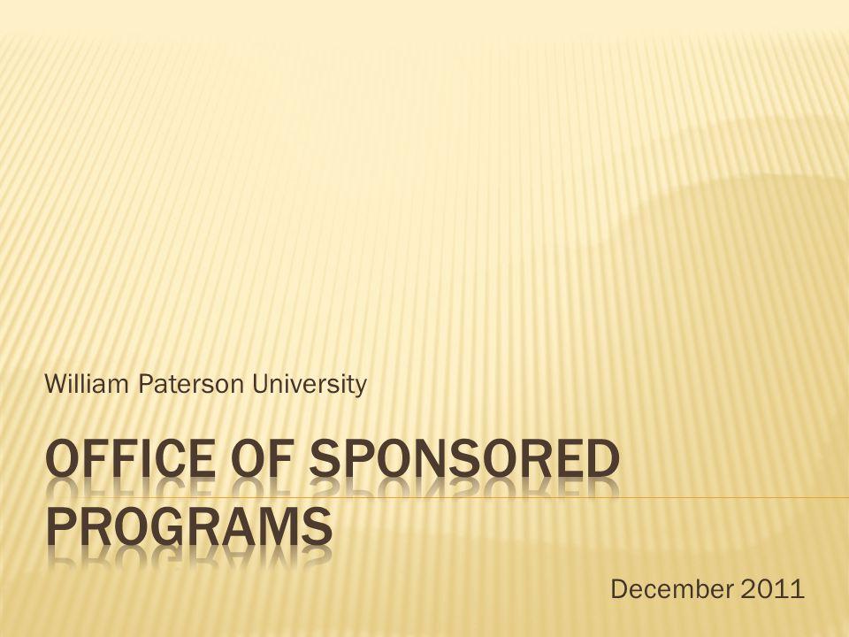 William Paterson University December 2011