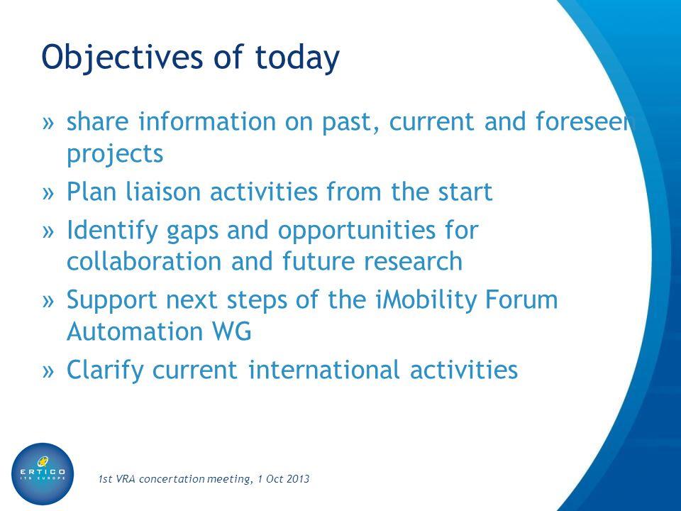 Agenda 1st VRA concertation meeting, 1 Oct 2013