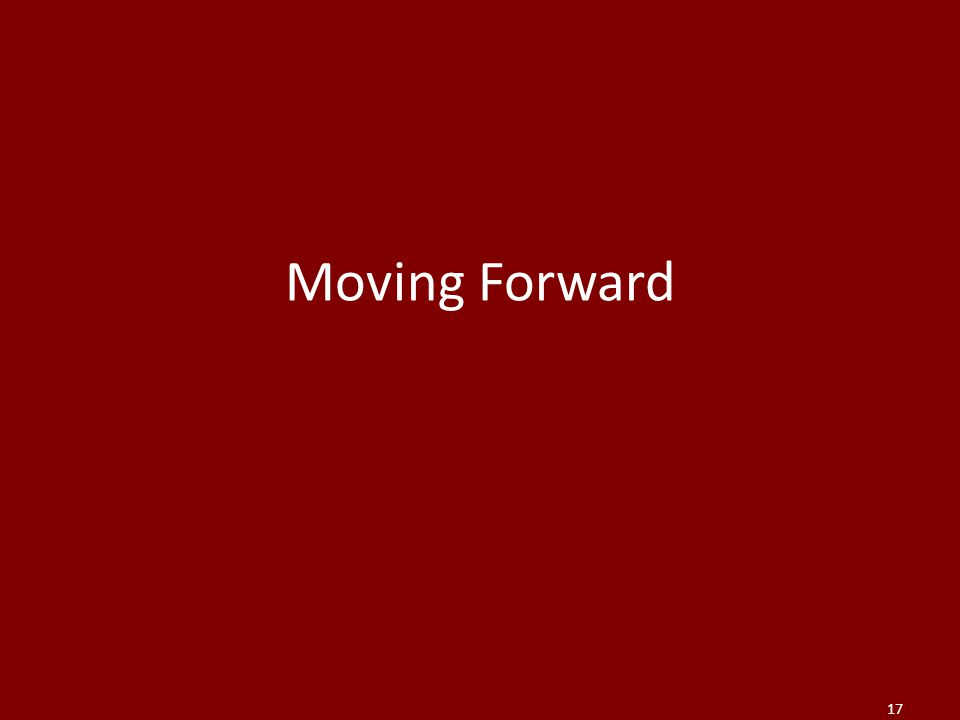 Moving Forward 17