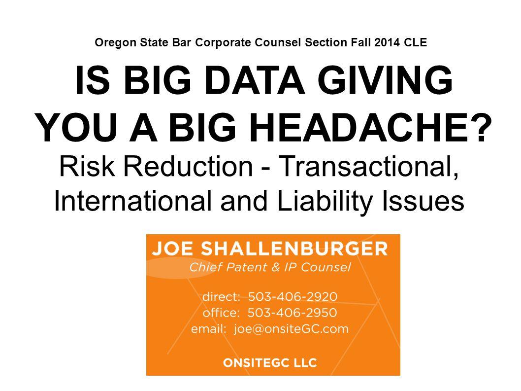 IS BIG DATA GIVING YOU A BIG HEADACHE.