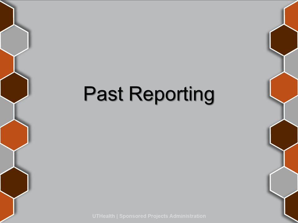 Past Reporting