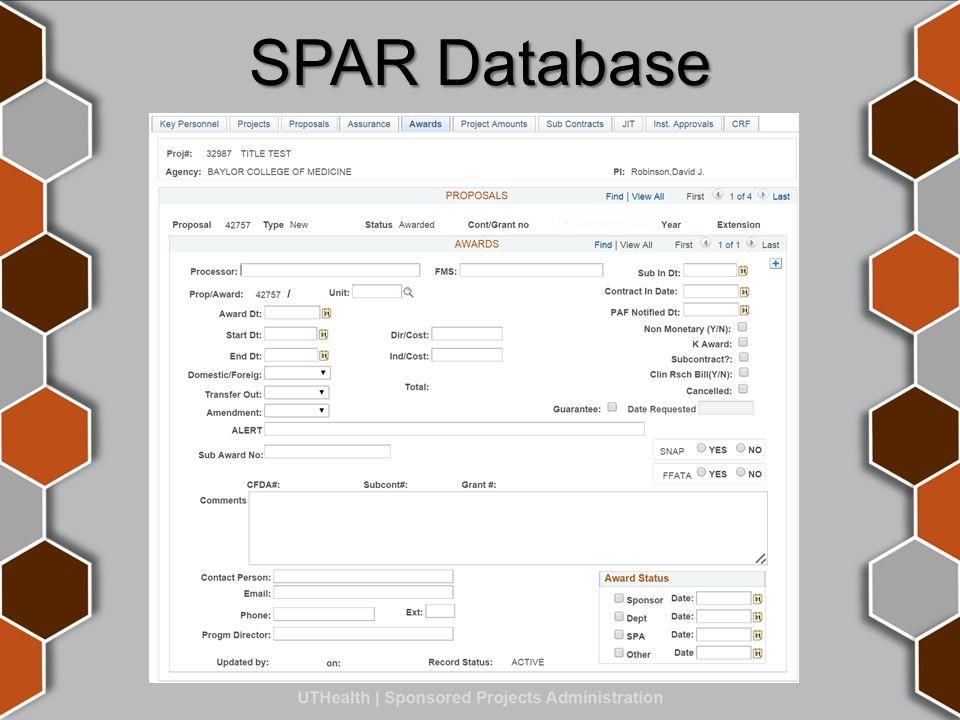 SPAR Database
