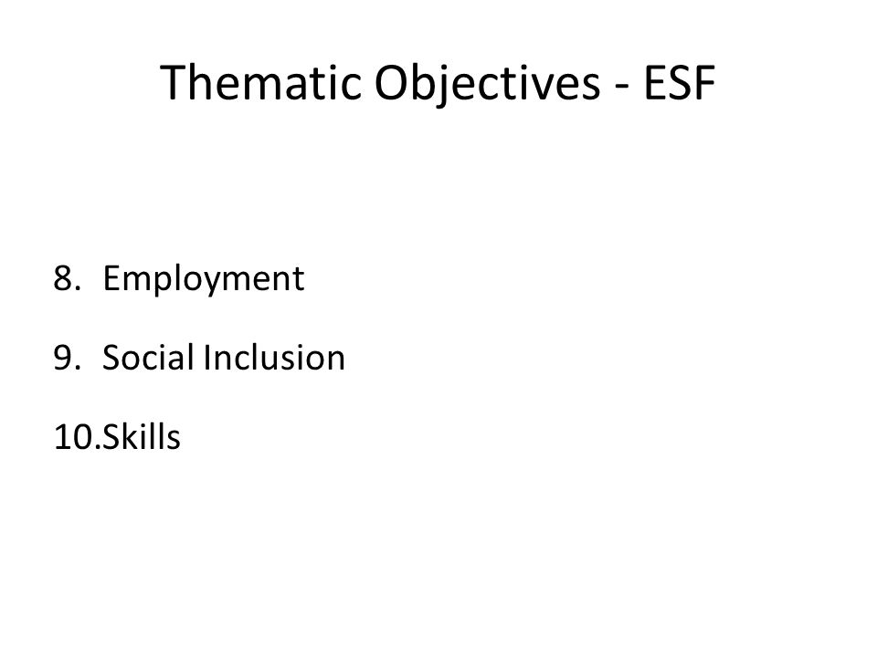 Opt-Ins(National Match) DWP for part T8 Employment BIG for part T9 Social Inclusion SFA for part T10 Skills Activities have to be agreed with Opt-In provider but then fully matched Will have own commissioning processes (NB BIG will award grants)