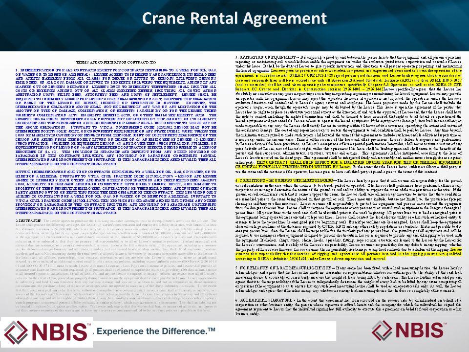 Crane Rental Agreement