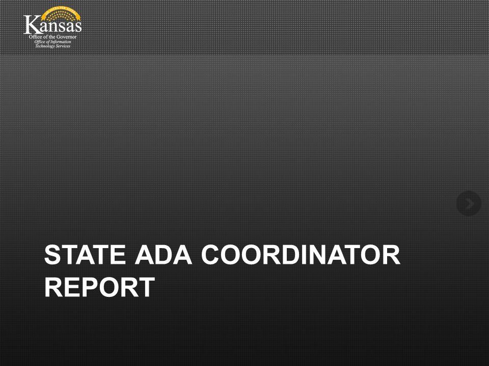 STATE ADA COORDINATOR REPORT