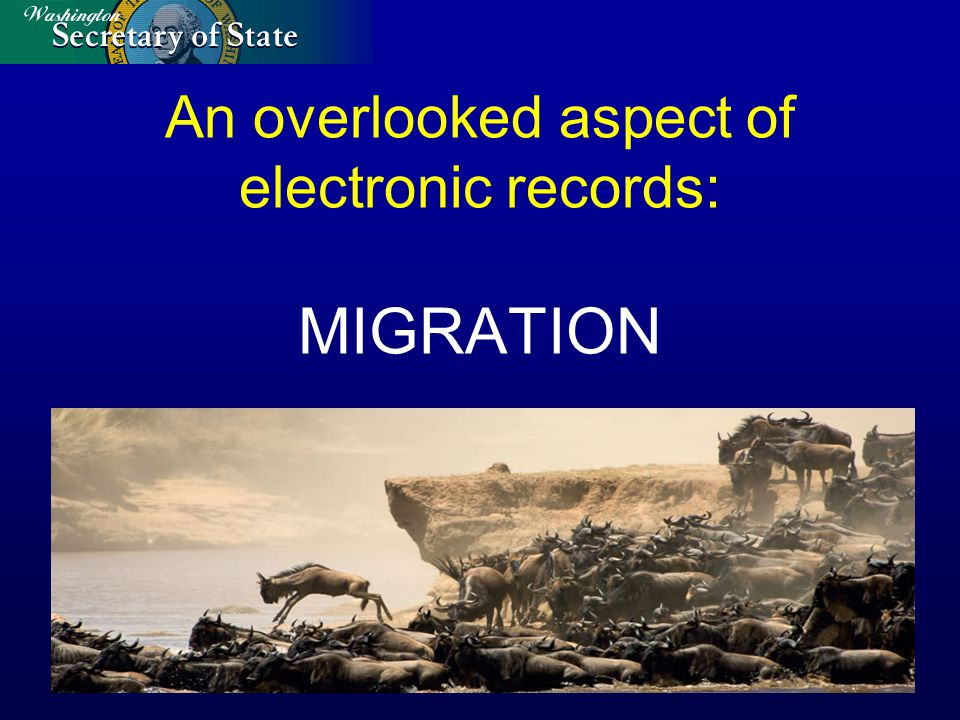 An overlooked aspect of electronic records: MIGRATION