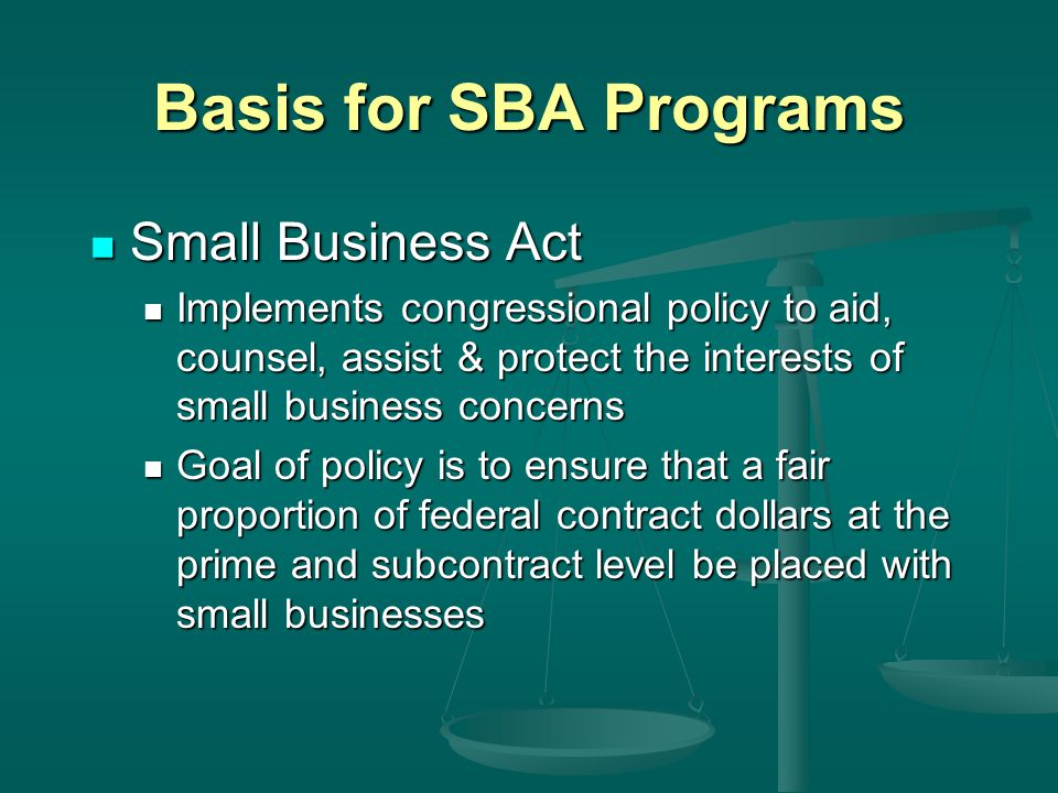Small Business Set-Aside The contracting officer may set aside a project from full and open competition, but must have a reasonable expectation that— Offers will be received from two or more small business concerns; and Offers will be received from two or more small business concerns; and Award will be made at a fair market price.