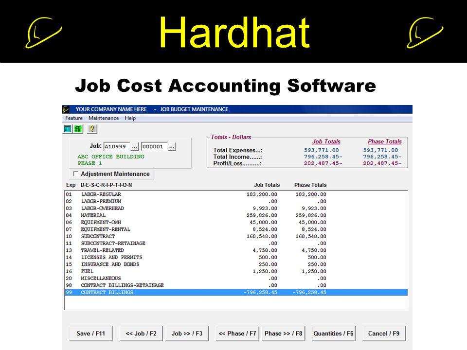 Hardhat Job Cost Accounting Software