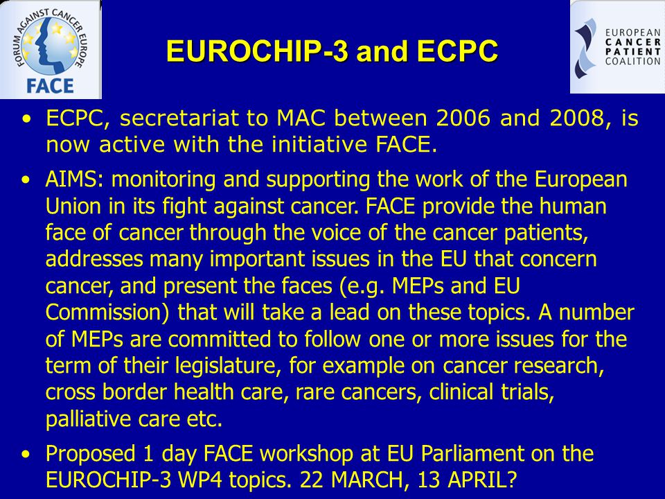 EUROCHIP-3 and ESO ESO is in charge of the EUROCHIP-3 WP2 for Dissemination Not possible to disseminate results of EUROCHIP- 3 WP-4 studies by Sept 2011 Info learned and discussed in the Cluj Media Training will be useful for the article (e.g.