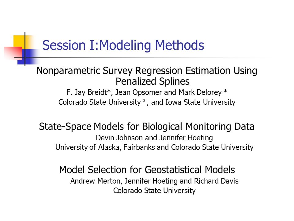 Session I:Modeling Methods Nonparametric Survey Regression Estimation Using Penalized Splines F.