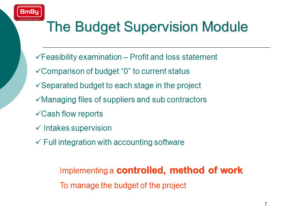 8 Example: Budget Control