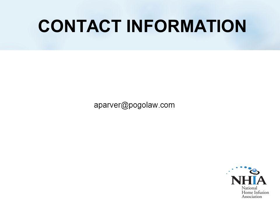 CONTACT INFORMATION aparver@pogolaw.com