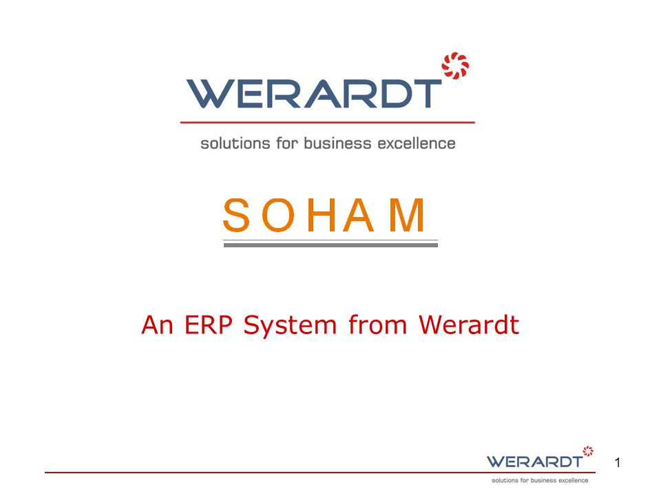 1 An ERP System from Werardt