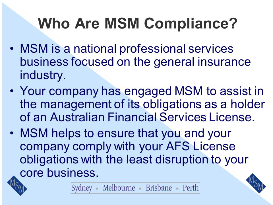 General Insurance Code of Practice (The Code) An Overview for Staff Prepared by MSM Compliance Services Pty Ltd