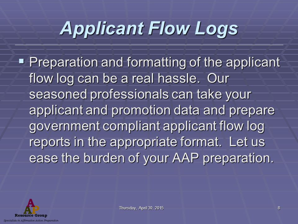 Thursday, April 30, 2015Thursday, April 30, 2015Thursday, April 30, 2015Thursday, April 30, 201519 Explanation Guide Here are the formats for the Employees, Applicants, Promotion, Termination Data.