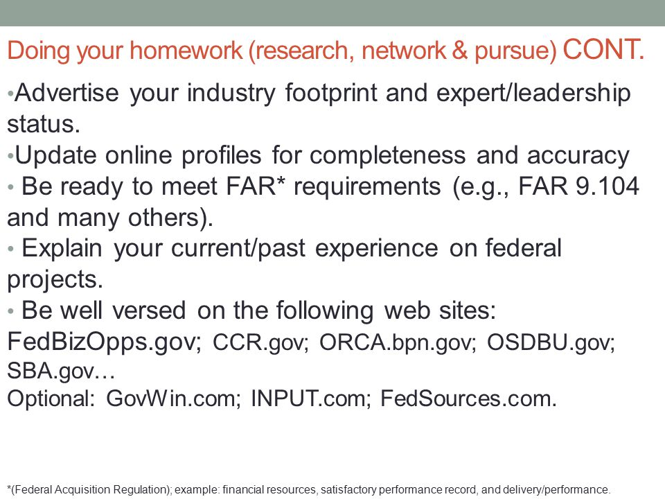 Advertise your industry footprint and expert/leadership status.