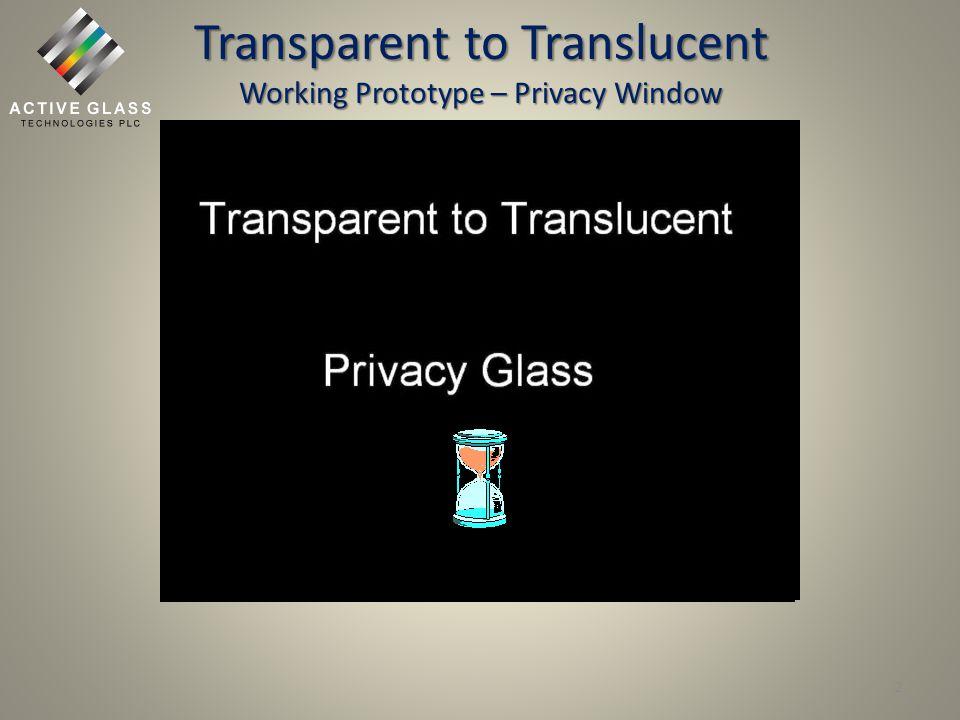 Transparent to Opaque Working Prototype - Skylight 3