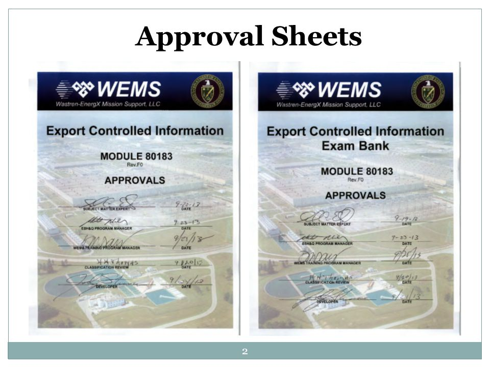 2 Approval Sheets