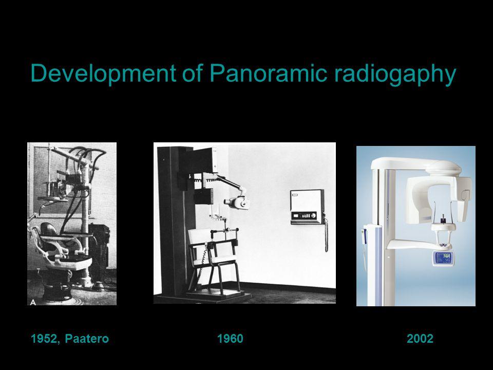 1952, Paatero 1960 2002 Development of Panoramic radiogaphy