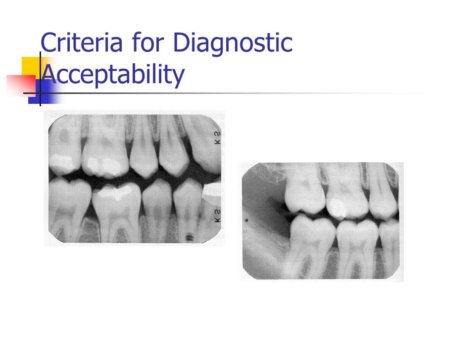 Criteria for Diagnostic Acceptability