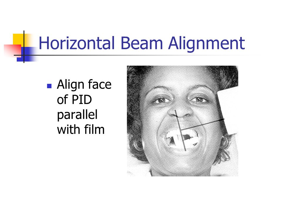 Horizontal Beam Alignment Align face of PID parallel with film