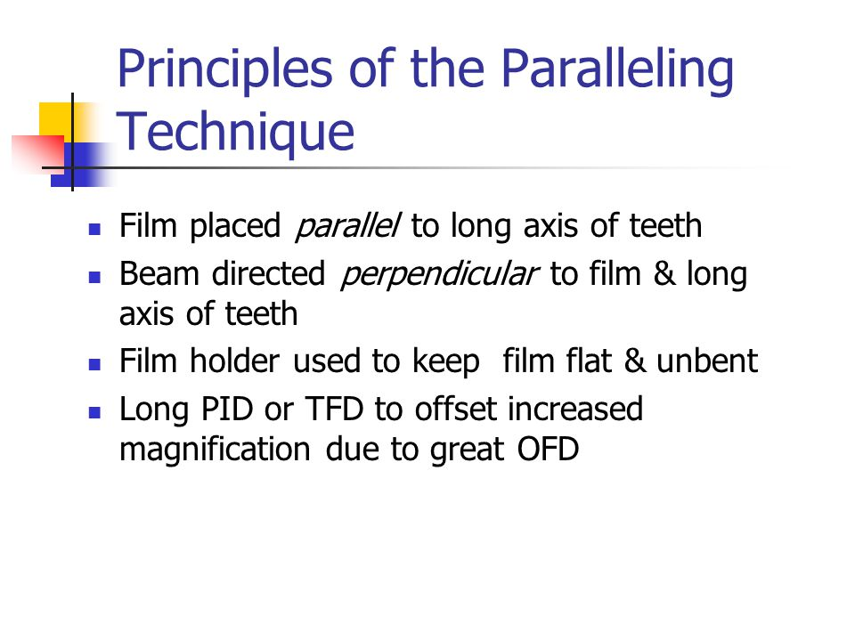 Interproximal Survey Adult Dentition Four or six #2 films used for vertical placement