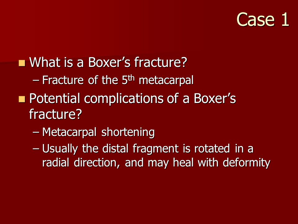 What is a Boxer's fracture. What is a Boxer's fracture.