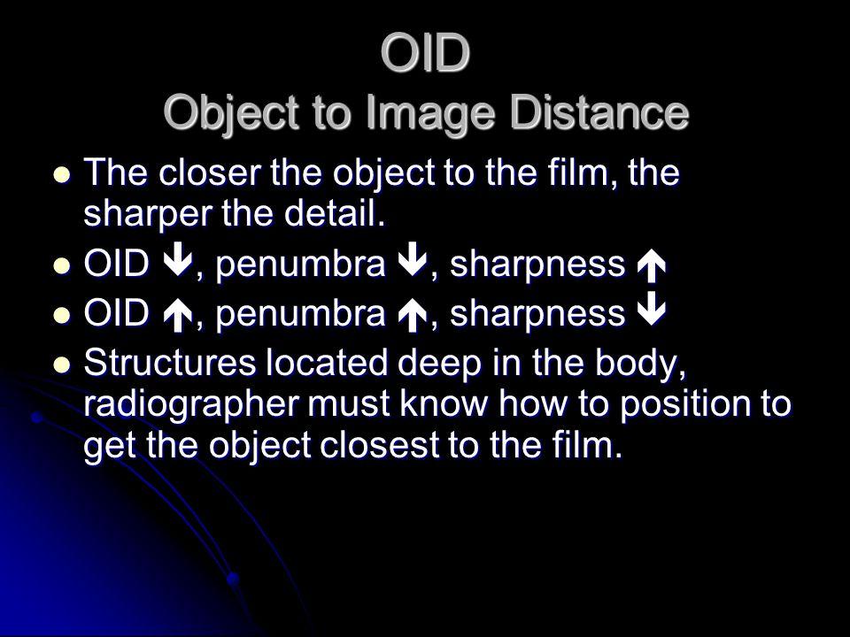 "SID Shine a flashlight on a 3-D object, shadow borders will appear ""fuzzy"" Shine a flashlight on a 3-D object, shadow borders will appear ""fuzzy"" On a"