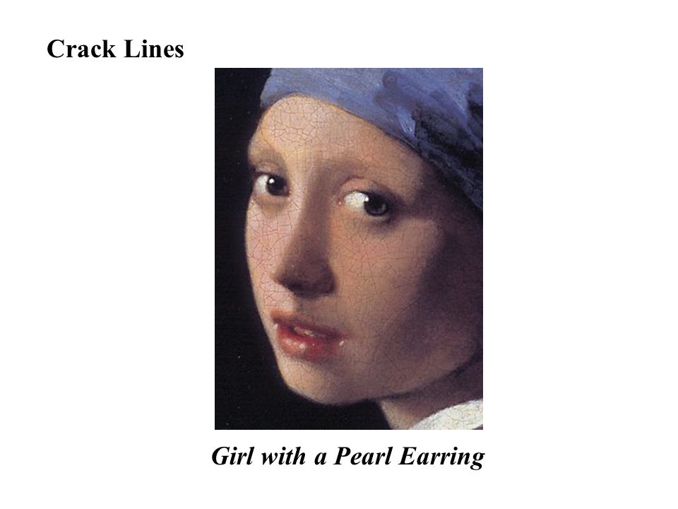 Crack Lines Girl with a Pearl Earring