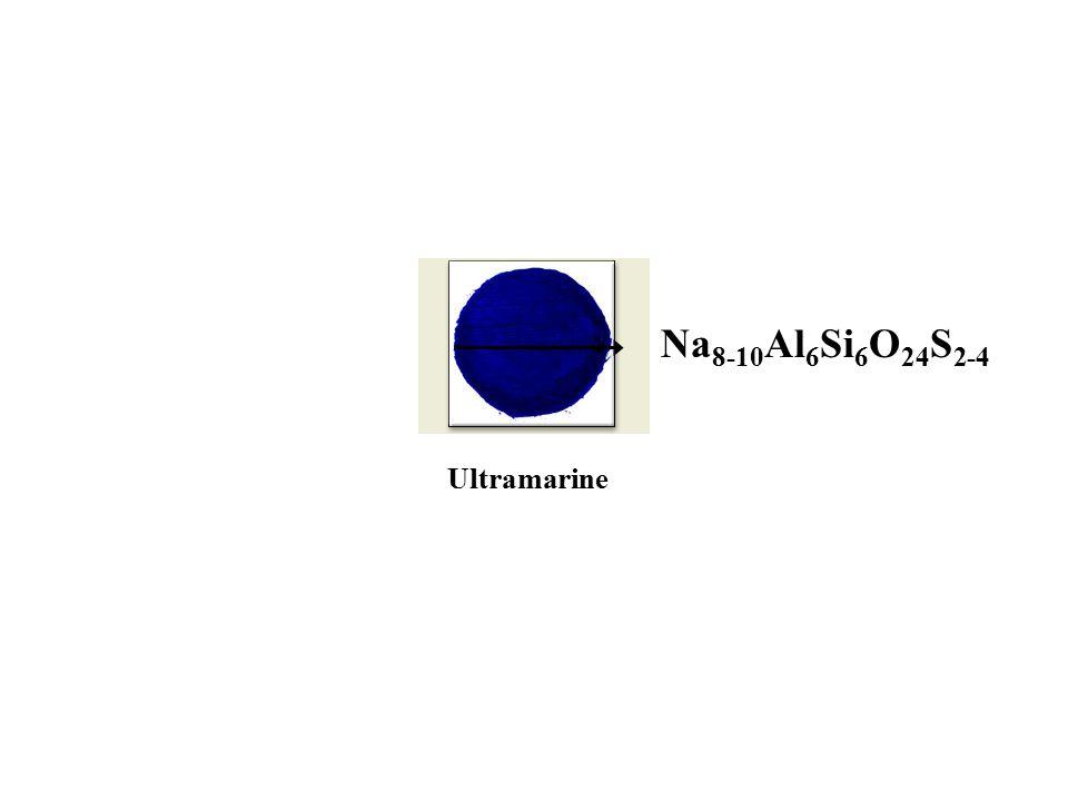 Ultramarine Na 8-10 Al 6 Si 6 O 24 S 2-4