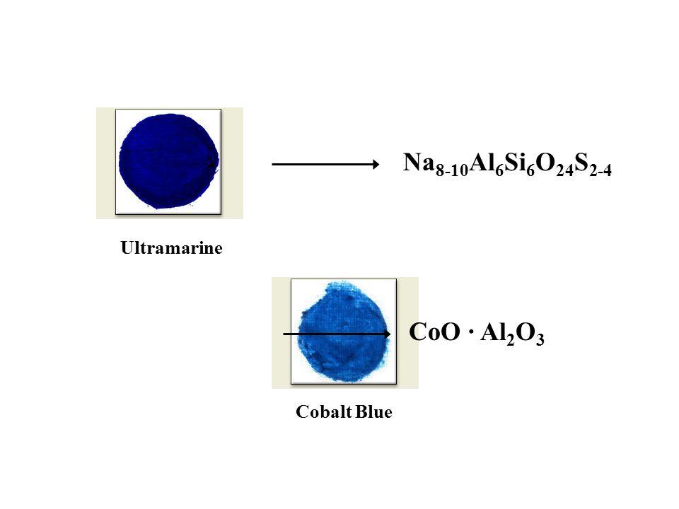 Ultramarine Na 8-10 Al 6 Si 6 O 24 S 2-4 Cobalt Blue CoO · Al 2 O 3
